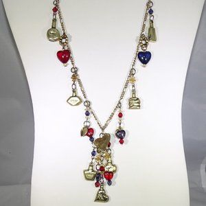 VINTAGE PARIS FRANCE NECKLACE WITH CHARMS